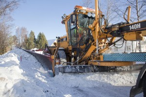 Grader winter Cat