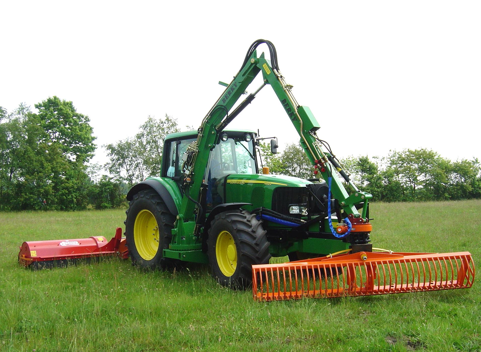 Berky Mejekurv på traktor